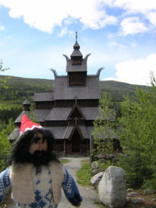 Nisse at a stave church